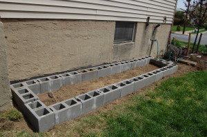 Outside measures about 160 inches by 40 inches.  Inside of garden bed measures about 144 inches by 24 inches.