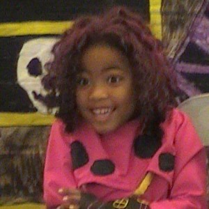 Elena as Lava Girl in preschool.